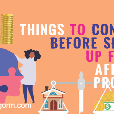 Things to consider before choosing an affiliate program for promotion